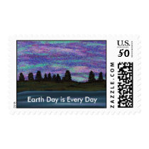 Beautiful Sky Earth Day Everyday Postage Stamps
