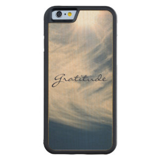 Beautiful Sky & Gratitude Inspires Custom Carved® Maple iPhone 6 Bumper