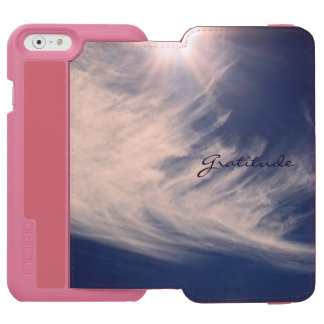 Beautiful Sky & Gratitude Inspires Custom iPhone 6/6s Wallet Case