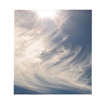 Beautiful Sky & Gratitude Inspires Custom Memo Pads