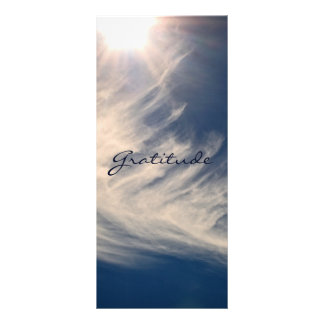 Beautiful Sky & Gratitude Inspires Custom Customized Rack Card