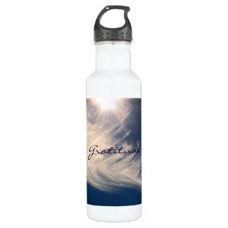 Beautiful Sky & Gratitude Inspires Custom Water Bottle