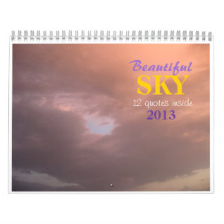 Beautiful SKY quotes Wall Calendars