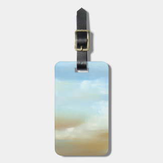 Beautiful Skyscape with Fluffy Clouds Tag For Bags
