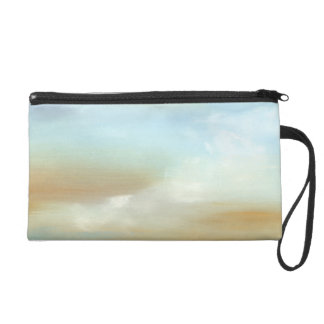 Beautiful Skyscape with Fluffy Clouds Wristlet