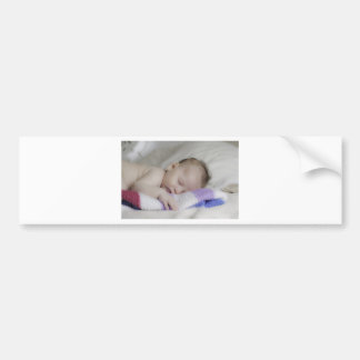 Beautiful Sleeping Newborn Baby Bumper Stickers