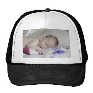 Beautiful Sleeping Newborn Baby Cap