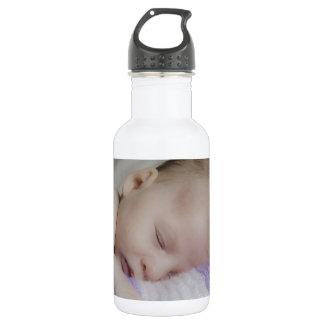 Beautiful Sleeping Newborn Baby Water Bottle