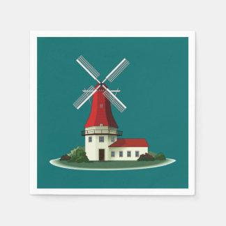 Beautiful Smock Windmill Paper Napkin