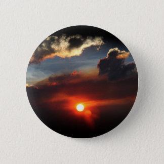 beautiful smokey sunset photo button
