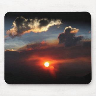 beautiful smokey sunset photo mouse pad