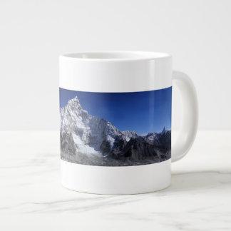 Beautiful Snow capped Mountains Scene Poster Giant Coffee Mug