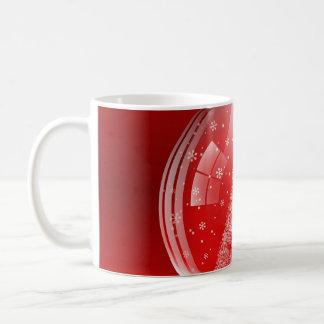 Beautiful snow globe coffee mug