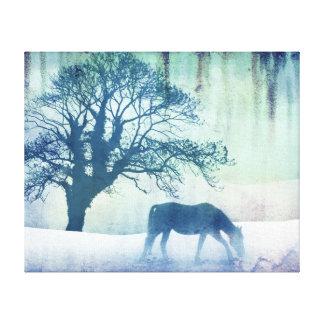 Beautiful Snow Horse Artwork Canvas Print