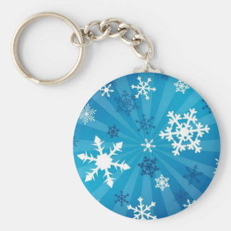Beautiful Snowflakes Basic Round Button Keychain