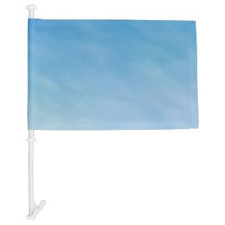 Beautiful Soft Blue Sky with Dreamy Clouds Car Flag