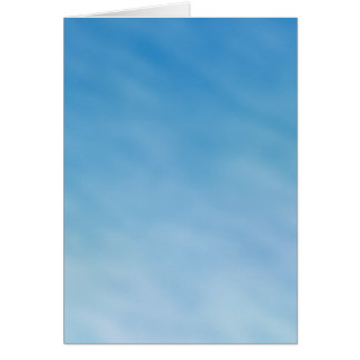 Beautiful Soft Blue Sky with Dreamy Clouds Card