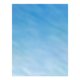 Beautiful Soft Blue Sky with Dreamy Clouds Letterhead