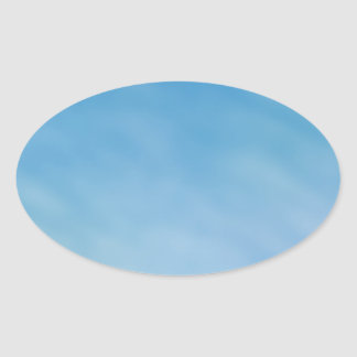 Beautiful Soft Blue Sky with Dreamy Clouds Oval Sticker