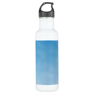67f163b727e Beautiful Soft Blue Sky with Dreamy Clouds Stainless Steel Water Bottle