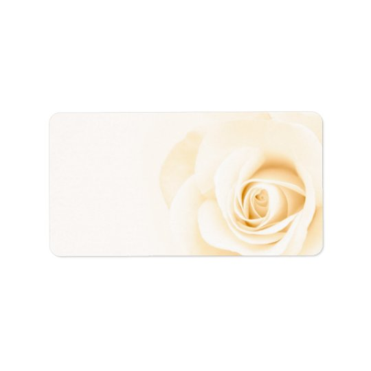 Beautiful soft cream colored rose flower floral label
