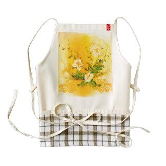 Beautiful soft yellow flowers zazzle HEART apron