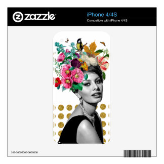 Beautiful Sophia iPhone 4 Decals