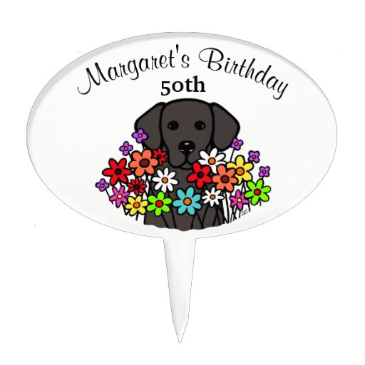 Beautiful Soul Black Labrador Birthday Cake Topper