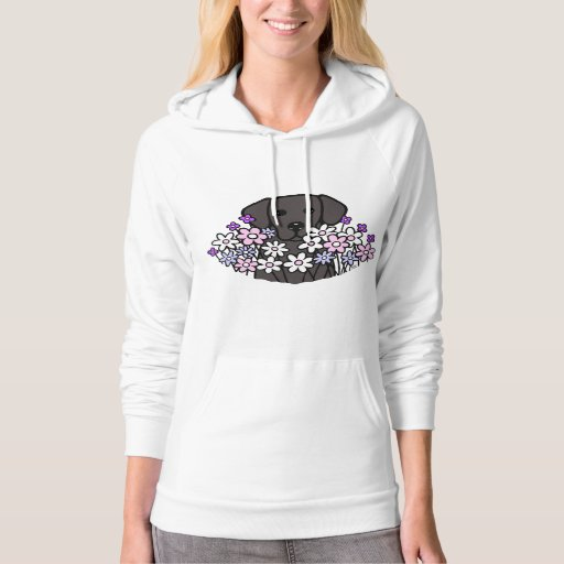 Beautiful Soul Black Labrador Illustration 2 Hoodie