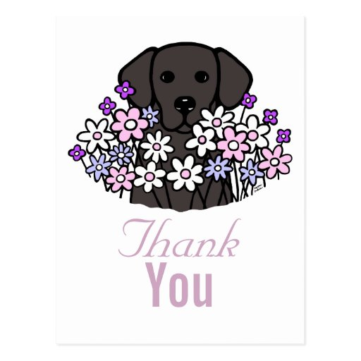 Beautiful Soul Black Labrador Illustration 2 Postcard