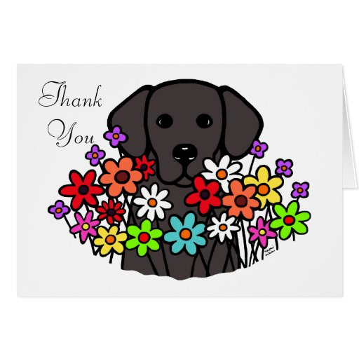 Beautiful Soul Black Labrador Illustration Card