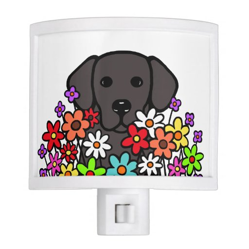 Beautiful Soul Black Labrador Illustration Night Light