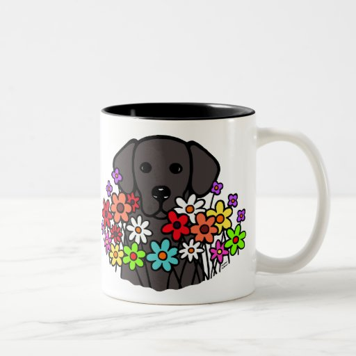 Beautiful Soul Black Labrador Illustration Two-Tone Coffee Mug