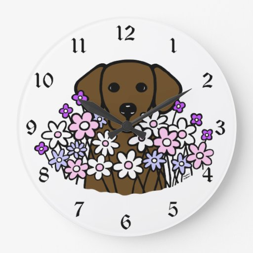 Beautiful Soul Chocolate Labrador Clock