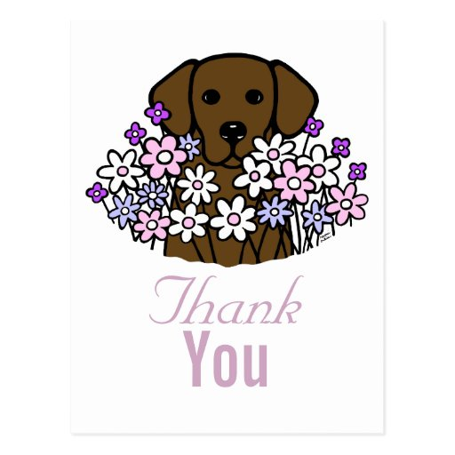 Beautiful Soul Chocolate Labrador Illustration 2 Postcard