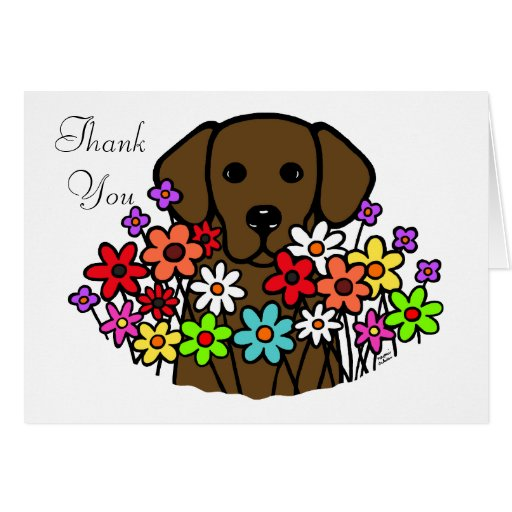 Beautiful Soul Chocolate Labrador Illustration Card