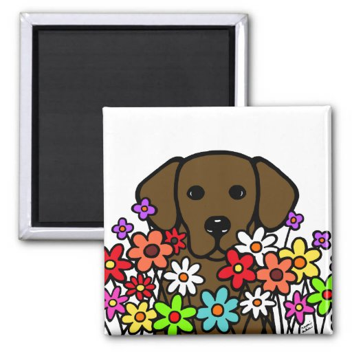 Beautiful Soul Chocolate Labrador Illustration Magnet