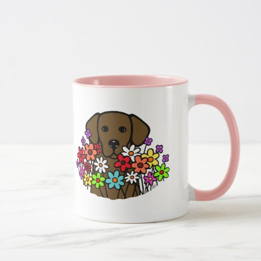 Beautiful Soul Chocolate Labrador Illustration Mug
