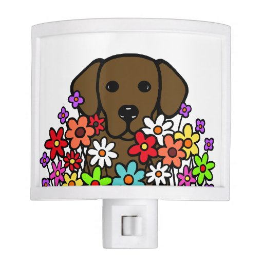 Beautiful Soul Chocolate Labrador Illustration Night Light