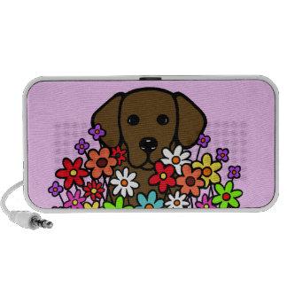 Beautiful Soul Chocolate Labrador Illustration Portable Speaker