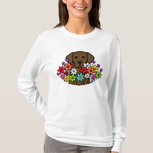 Beautiful Soul Chocolate Labrador Illustration T-Shirt