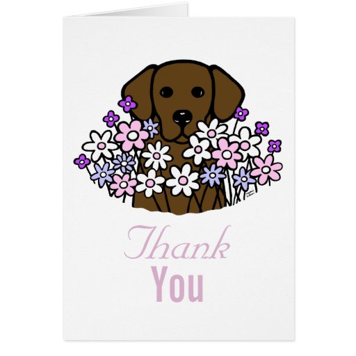 Beautiful Soul Chocolate Labrador Thank You Card