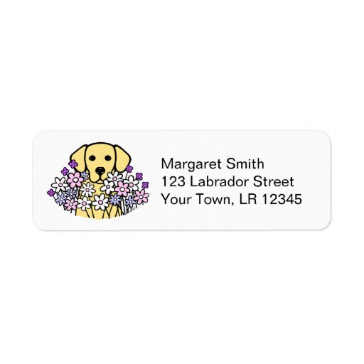 Beautiful Soul Yellow Labrador Address Labels