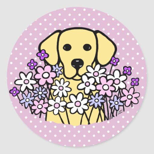 Beautiful Soul Yellow Labrador Illustration 2 Classic Round Sticker