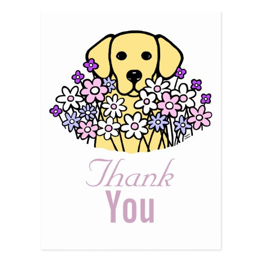 Beautiful Soul Yellow Labrador Illustration 2 Postcard