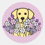 Beautiful Soul Yellow Labrador Illustration 2 Classic Round Sticker