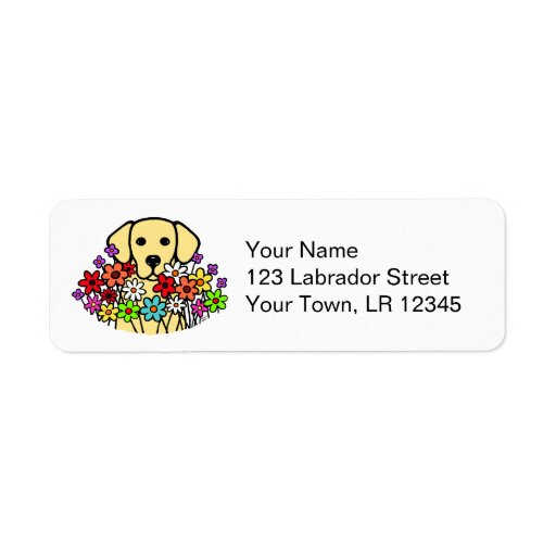 Beautiful Soul Yellow Labrador Illustration Label