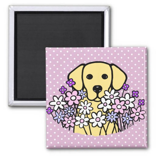 Beautiful Soul Yellow Labrador Illustration Magnet