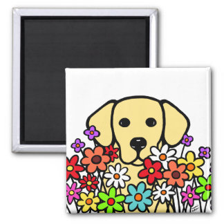 Beautiful Soul Yellow Labrador Illustration Magnet