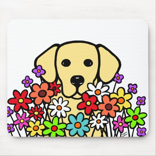 Beautiful Soul Yellow Labrador Illustration Mouse Pad